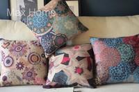 "Free Shipping 4 pcs/lot 18"" Floral Pattern Vintage Linen Burlap Decorative Throw Pillow Case Pillow Cover Cushion Cover Set"