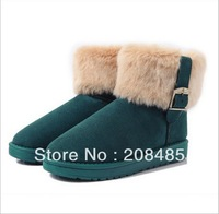 Free Shipping 2013 winter fashion warm thermal fox fur snow boots women boots Direct marketing 4 colors