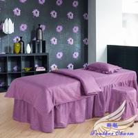 Cotton piece 100% beauty set beauty care bedspread bed sheets brief massage bedspread beauty care piece set customize