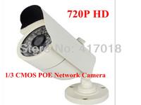 CCTV Security HD P2P IP Camera Standalone 720P Indoor 1.0Megapixel Onvif Mini Bullet Cam IP  POE camera  free shipping