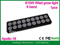 9 Bands full spectrum 810W Apollo-18 LED grow light with excellent performance to promote the growth of plants