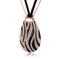 High quality Hemsleya female necklace fashion pendant accessories all-match -zebra water Drop design long necklace