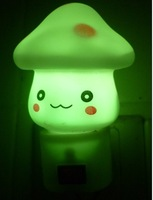 Mushroom plug in night light colorful led night light plug in night light with switch colorful small night light