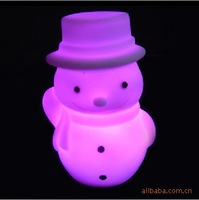 Fashion popular Christmas christmas gift colorful small night light snowman