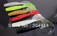 30pcs 90mm/5.5g soft fishing lure soft fishing bait mixed colors Free shipping