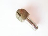 Slotted R12-24mm stone tools/Brazing Quartz Diamond Round bottom engraving tools/CNC Router Tools/ cutting bits
