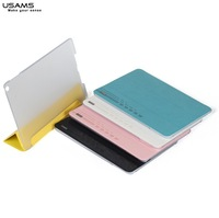 for ipad air leather case flip cover jane series with USAMS Brand retail package