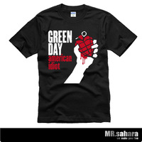 Free shipping HOT sale green day male and women t-shirt hiphop 100% cotton letter and cartoon print  novel tops  camisetas
