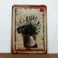 whosales Vintage Metal Painting Retro Mural Painted Pub home Decorative Painting V-56 15*20CM