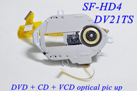 DV21TS  DVD optical pick up SF-HD4 ( double resistor.Curved line.Black cover ) OPTICAL PICK UP CD+VCD+DVD SF-HD4