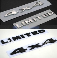 3D 4x4 + LIMITED (2PC) Badge ABS Chromed Silver/Black - FREE SHIPPING