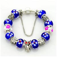 2014 New Arrival High Quality European Silver Beads Angel Bracelets For Women, Wholesale,19CM,20CM,21CM,PA053