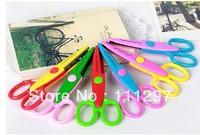 Free fedex new cute Handmade DIY album lace art scissors Card pattern cartoon Gift scissors 6 styles mixed color 1000pcs/lot