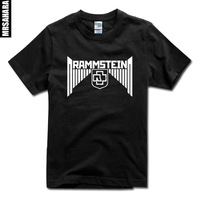 2014 new Men's&women's Classic Rock band Rammstein letter print short-sleeve T-shirt tops loose plus size camisetas casual brand