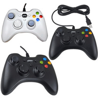 Black/White Wired USB Game Controller Gamepad For PC Laptop Computer XBOX360