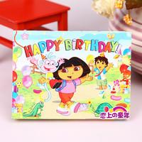 Birthday supplies birthday greeting card birthday invitation card child invitation card dora invitation card