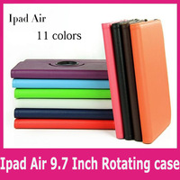For ipad air 360 degree rotating protective case 11 colors Factory direct sale+Free shipping