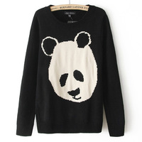 New 2013 sweater women cardigan sweaters 2013 women fashion Women O-neck Panda Sweater Knitted Wear Knitting Pullovers