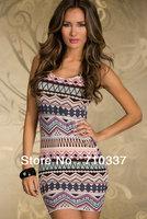 Sheath  Dresses O Neck Knee saia stripe Brief  crane dress Vestido Casual Tank Print Dress