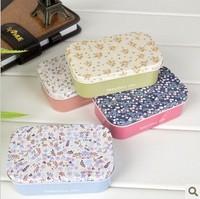 Flower Pattern Mini Tin Box, Lovely Jewerly Storage Iron Box, Beautiful Life Metal Storage Box, Candy Box Wholesale