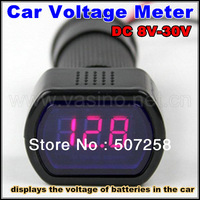 free shipping Digital Car Battery Meter 12v 24v dc auto batteries Tester Voltage Meter Monitor voltmeter electronic meter