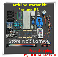 Can quickly reach your city Free shipping by DHL or Fedex IE!uno r3 kit  for a rduino!UNO R3 Starter Kit with Plastic box.