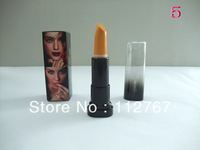 FREE SHIPPING 5PCS/LOT MA..FASHION GREEN,BLUE,YELLOW,BLACK COLOR MAKEUP LIPSTICK GOOD QUALITY FULL SIZE LIP STICK ADA038