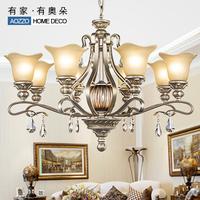 Free shipping G fashion vintage pendant light luxury crystal lamp living room lamps lighting bedroom lamp 70112 e