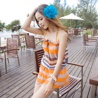 2013 swimwear women's bikinis25 skirted swimwear piece set steel push up small