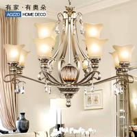 Free shipping G fashion vintage pendant light luxury crystal lamp living room lamps lighting bedroom lamp 70114 e