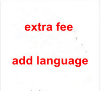 extra fee for adding one language letter on keyboard of the laptop