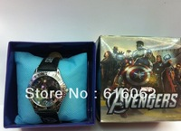 Free Shipping 20pcs/lot New style Cartoon The Avengers Wristwatch Kids Lovely Fashion Watches Children Watch With Gift Box