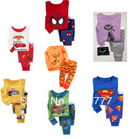 Retail Cartoon Kids Pajama set Baby Boy's Pajamascotton baby nightwear kids sleepwears Boy's underwear toddler clothing suit