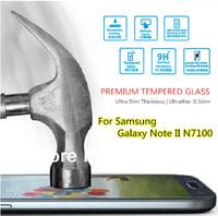 For Samsung Galaxy Note 2 II N7100 , Original Magic Premium Tempered Glass HD Film Screen Protector Anti-Fingerprint Ultrathin