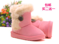 Child snow boots male female child baby cotton shoes infant winter suede boots