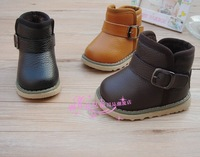 2013 winter child snow boots child cotton-padded shoes male female child thermal cotton-padded shoes leather baby boots