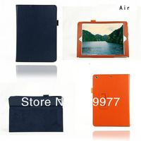 2 Folding Litchi Grain Smart Leather Case Cover Stand For Apple iPad 5 Air,Free Shipping