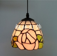 Multicolour glass rustic rose pendant light fashion entranceway lamps