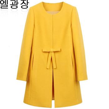 898 - осенью и зимой шерстяные верхняя одежда средней длины кашемира пальто женские ...