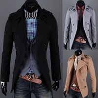 [M-230]  Free shipping NEW Arrival Men's Winter Coat , COTTON outerwear men's long coat,man jacket double-breasted coat HOT sale