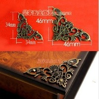 Antique alloy c055 laciness cutout bag fashion hardware corner guard wooden box wine box vintage