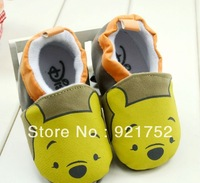 FREE SHIPPING Cute cartoon baby bear shoes, can not afford shoes ,soft bottom  baby shoes H0251 indoor baby  toddler shoes