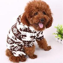 dogs pets petsuppliesdogs pets pet suppliesPet Doggie Soft Warm Puppy Snow Cute Clothes Snowflake Deer Hoodie Jumpsuit New LX011(China (Mainland))