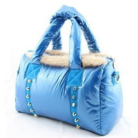 2013 winter down bag rabbit fur bags space bag women's one shoulder handbag cross-body women's handbag 30D