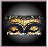 3  piece canvas wall art Modern abstract wall deco buddha panel artwork picture oil painting  set living room free shipping