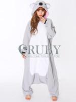 Fashion Christmas Costumes Pajamas All in One Pyjama Animal suits Cosplay Adult Garment Flannel Grey Koala Cartoon Onesies