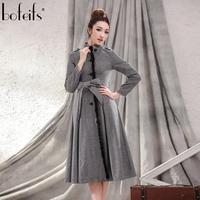 Autumn outerwear women's trench mink hair long design woolen outerwear overcoat medium-long wool coat fy559  free shipping