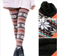 Autumn and winter warm pants cashmere plus velvet ankle length trousers fashion fleece legging