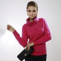 Tell women's turn-down collar pure cashmere sweater high quality diamond sweater