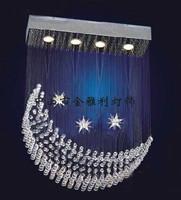 free shipping  moon light restaurant crystal  modern  real child bedroom  spiral crystal chandelier 65*25*100cm